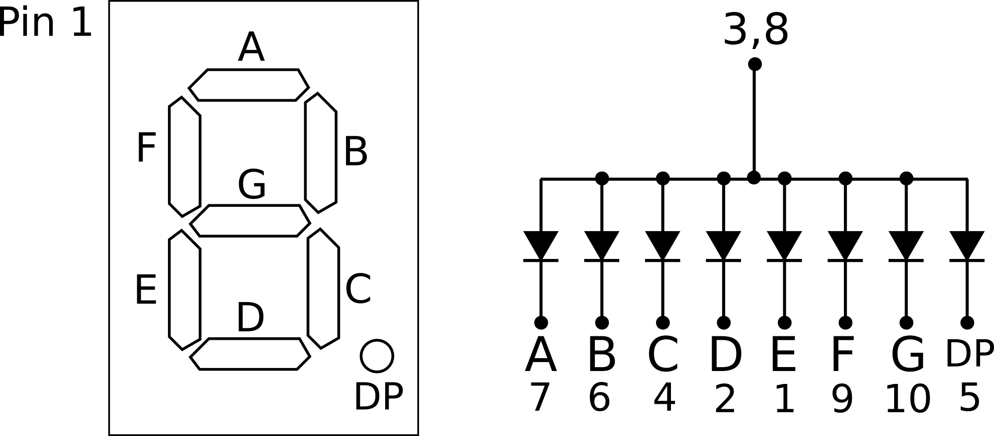 7-segment-LED-display-pinout