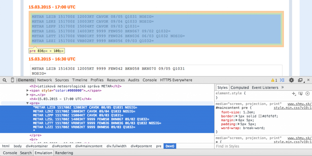 SHMU google developer tools